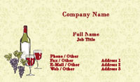 Wine and Grapes Illustration Business Card Template